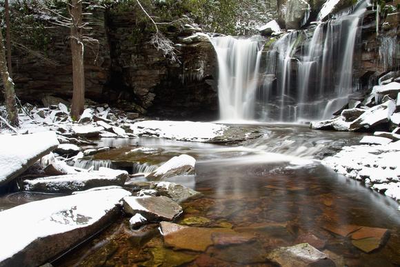Elakala Falls Spring Snow 3